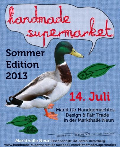 Handmade Supermarket Flyer 2013 Juli